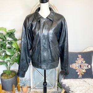 Vintage Andrew Marc Leather Bomber Jacket💋